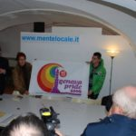 Alberto Villa Lilia Mulas Massimo Vianello con logo Genova Pride