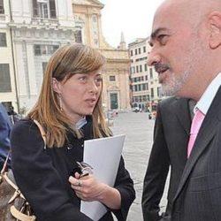 Giorgia Meloni e Aurelio Mancuso