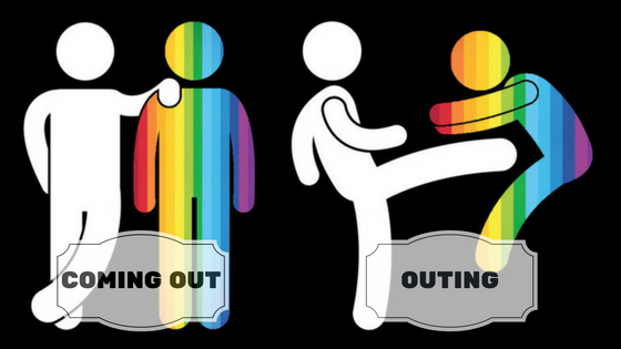 coming out vs outing
